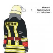 Helm mit Nachenschutz