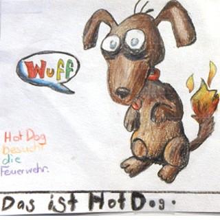 Hot Dog besucht die Feuerwehr