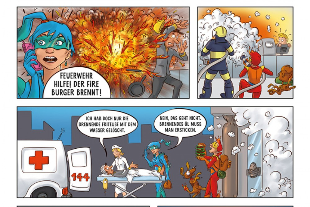 Der zweiplatzierte Comic der 4. Klasse Rothrist