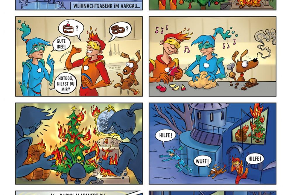Der drittplatzierte Comic der aha!Schule Stetten